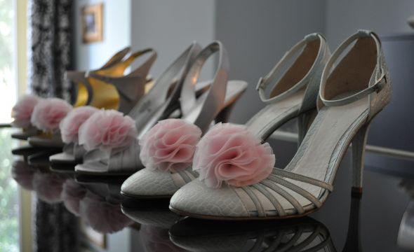 Chiffon flower shoe clips wedding chiffon shoe clips flowers accessories