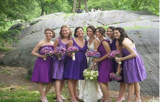 Shades Of Purple Short And Sy Bridesmaids Dresses