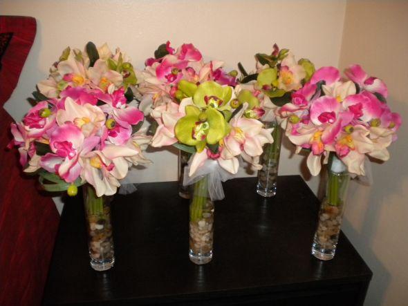 orchid centerpieces wedding green pink white flowers DSCN0619