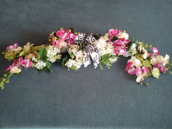 We used it on our church arch floral arrangements wedding brown green
