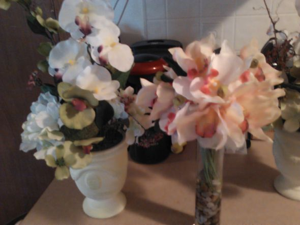 more orchids wedding orchid centerpieces green pink white ivory ceremony