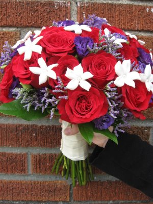 Purple Red Weddings wedding Red Rose Purple Lisianthus