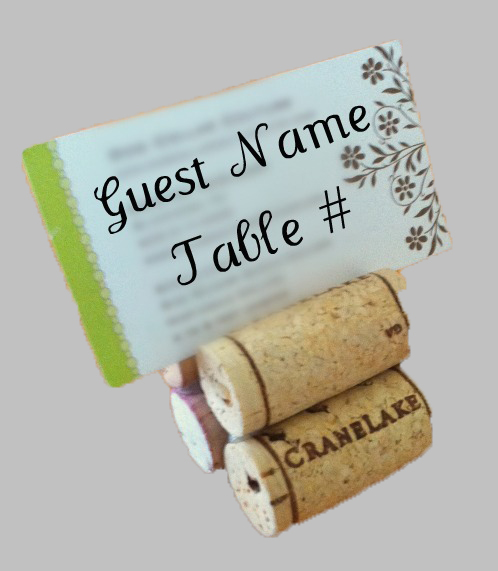 Wine Cork Guest Place Card Holder