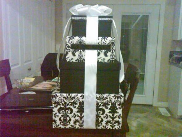 I have a 4 tier card box that will be available after my June 11th wedding
