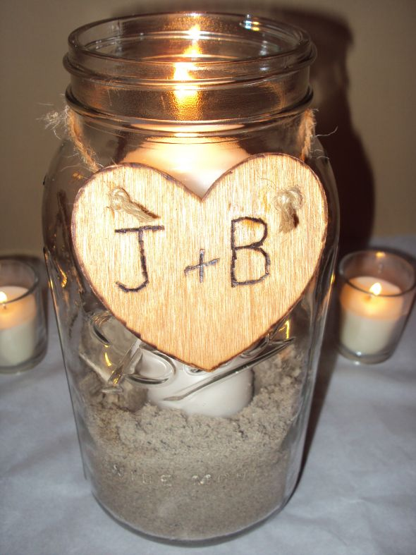 Diy simple rustic centerpiece here is our simple rustic mason jar centerpiece it will also have a sprinkling of real black magic rose petals the day of to give it a little pop of color junglespirit Images