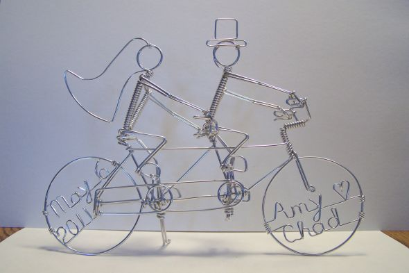 Almost Diy Unique Cake Topper From Etsy Tandem Bike