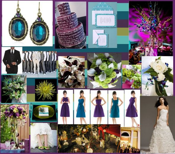 Best Ideas For Purple And Teal Wedding: Leddie's Blog: Definitely Not Your Traditional Color