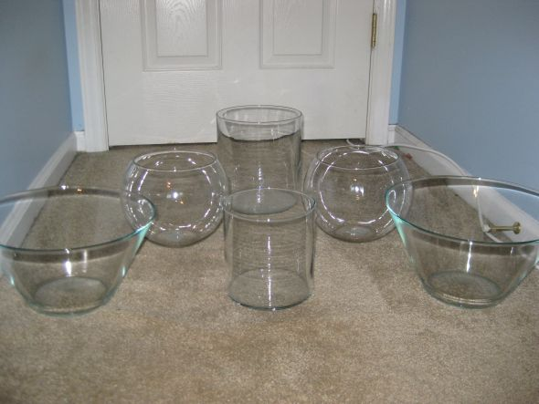 6 GLASS CONTAINERS USED FOR CANDY BAR 30 for all shipping WEDDING SALE