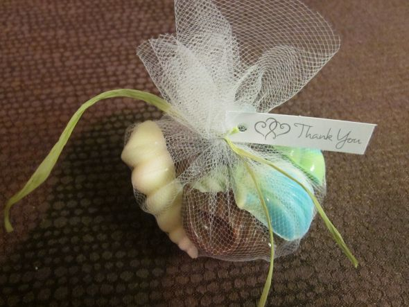 DIY Seashell Candy Favors