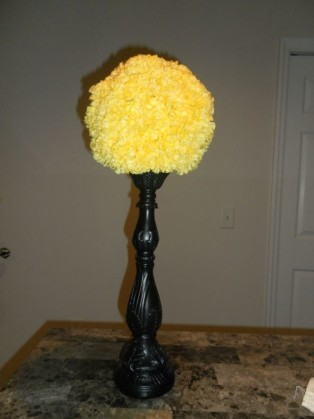 PREsale candelabras centerpieces etc wedding alice black white yellow