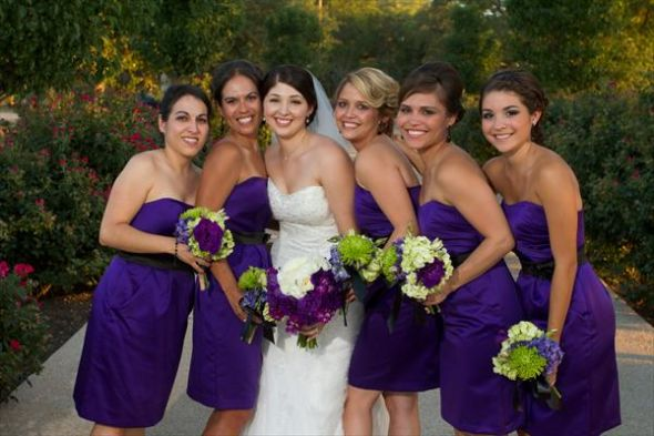 "Real Weddings By Color: Real Life Photos Of David's Bridal ""Regency"" Bridesmaid"
