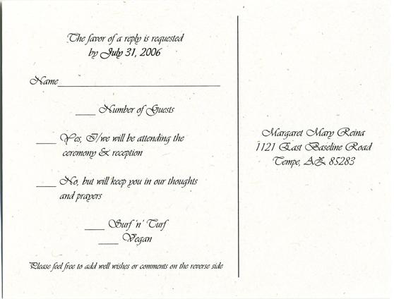 Sample wedding rsvp cards targergolden dragon sample wedding rsvp cards wedding invitation rsvp wording stopboris Choice Image