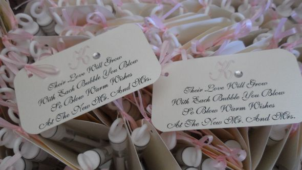 More Bubble Tags!... : wedding teal blue pink ivory inspiration ceremony diy 20110307 33