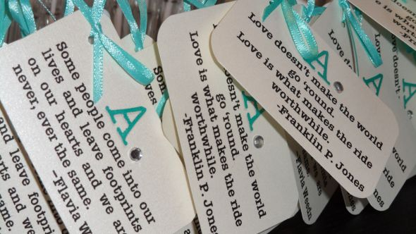 More Bubble Tags!... : wedding teal blue pink ivory inspiration ceremony diy 20110402 3