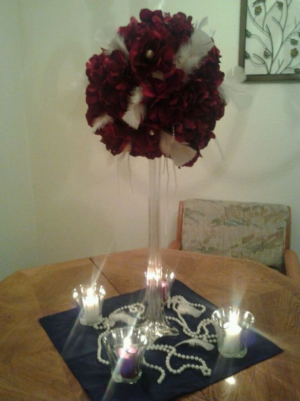 My DIY Centerpiece Trial for Old Hollywood Themed Wedding wedding diy