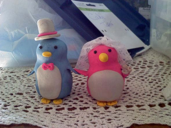 Penguin Cake Topper wedding diy cake topper 0827110849 Personal Pic
