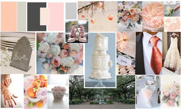 my wedding colors inspriation grey blush peach wedding Color