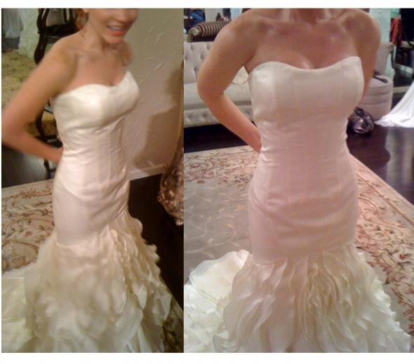 Help!!  I can't choose between these two dresses!  Which dress is better?? :  wedding christopher matthew enzoani mermaid wedding dress Dress23