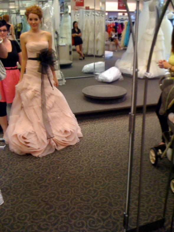 me in blush colored gowns (tried on just for the color) :  wedding blush Naomi22