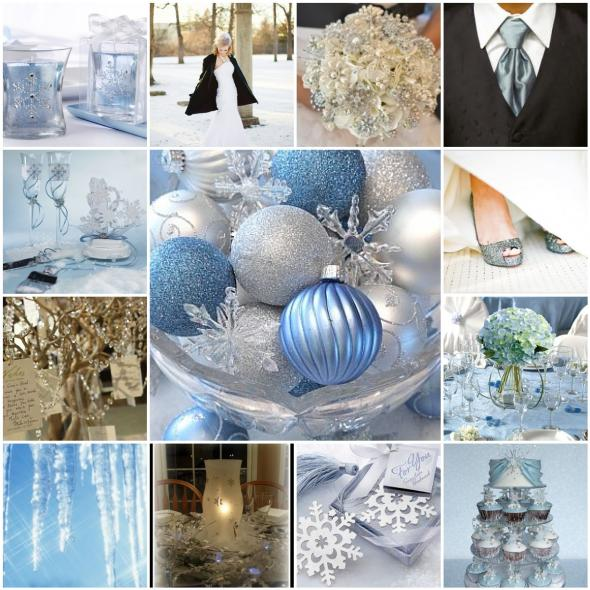 Winter Inspiration :  wedding blue dayton february inspiration ohio second wedding silver white winter InspirationBoard