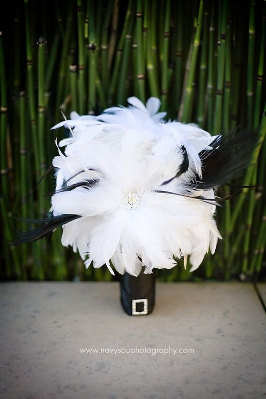 Black and White Feather Bouquet!