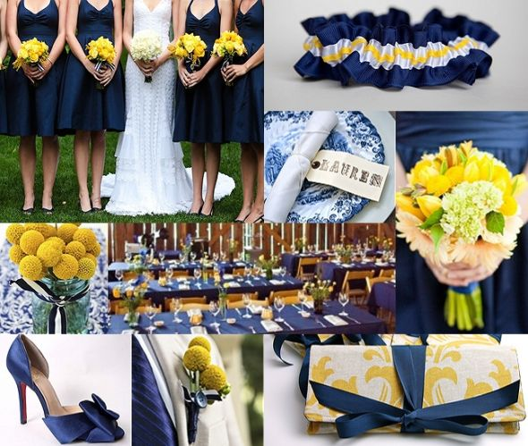 Blue And Yellow Weddings Reference Wedding Decoration