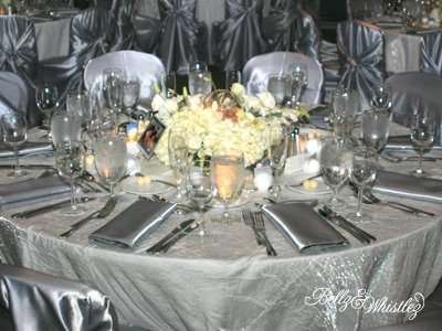 Enchanting Silver And White Table Settings Contemporary - Best Image ...