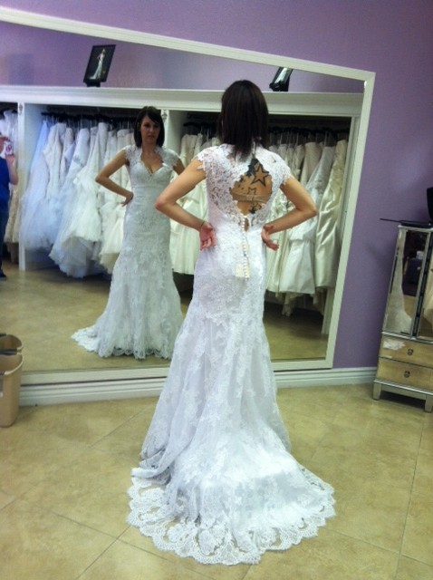 Brides wearing TRUE WHITE:) Post your\'s!
