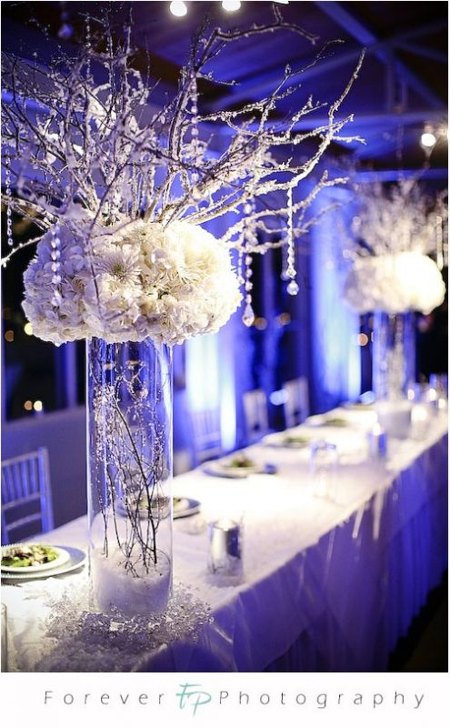 Need some help for my Winter Wonderland wedding! :  wedding icy blue wedding winter Winter Wonderland Head Table Decor