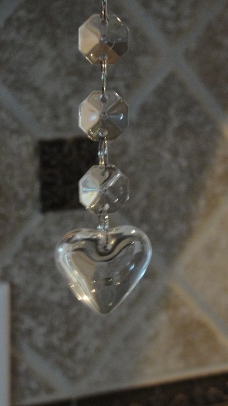 Hanging Crystal (glass) SALE!!!!! :  wedding 001hearts