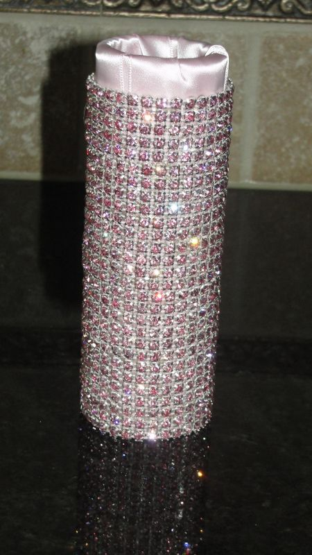 SWAROVSKI* Bouquet Holders... AMAZING-Dazzling-BLING! :  wedding 002Pink Holder PRETTY IN PINK-Rhinestone bouquet holders :  wedding 002Pink Holder