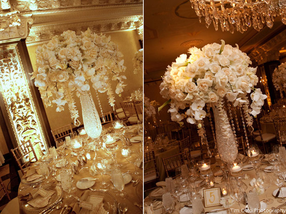 Bling wedding hanging crystals Crystal Centerpieces 2