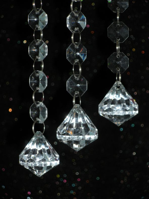 Hanging Crystals for WISHING TREES CENTERPIECES wedding bling crystals