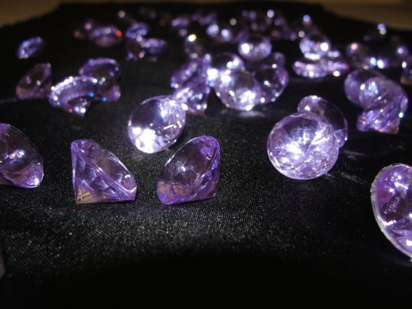 COLORFUL DIAMOND CONFETTI wedding teal black blue pink purple Purple