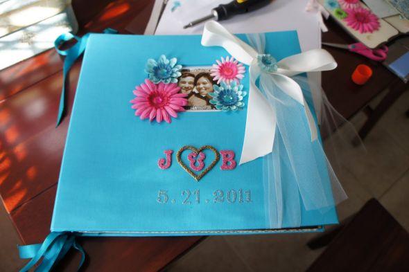 scrapbook album turned guestbook/envelope album :  wedding DSC00701