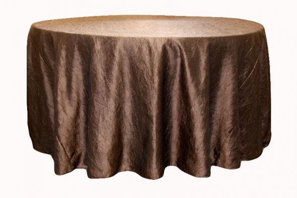 Chocolate Crushed Taffeta Tablecloths for Sale wedding tablecloths taffeta