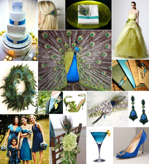 im doing a peacock vintage theme with cobalt blue teal and sage green