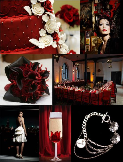 Old Hollywood Style wedding old hollywood black red inspiration Old