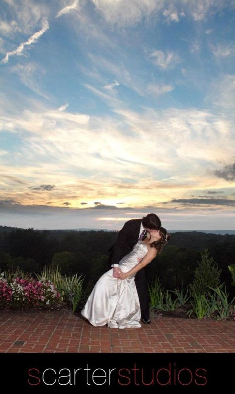 Sunset at our wedding
