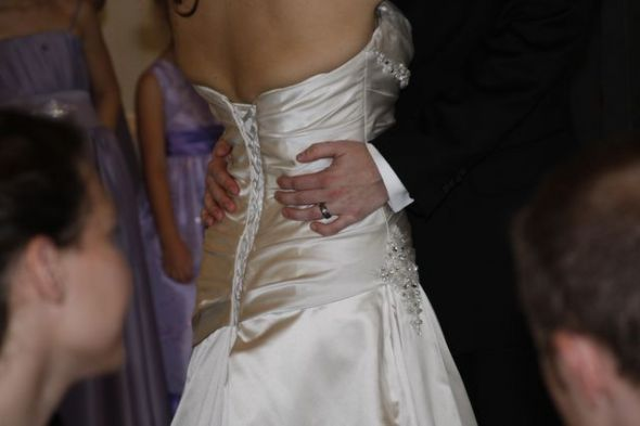 Alfred Angelo 2102, back of my dress