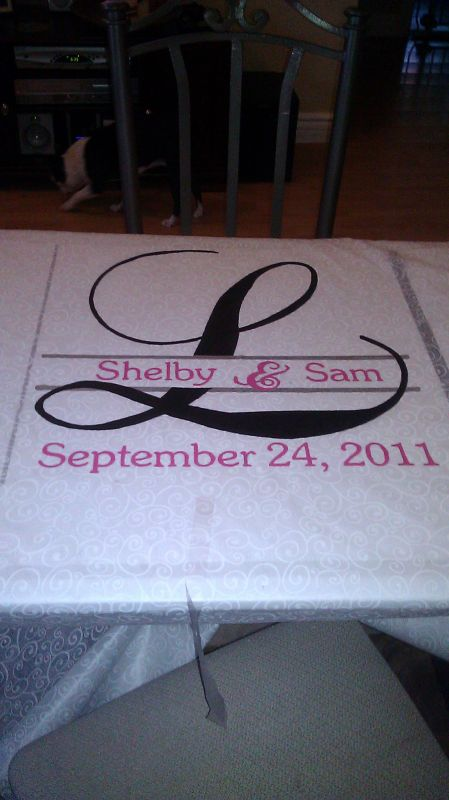My aisle runner wedding aisle runner black pink silver ceremony diy