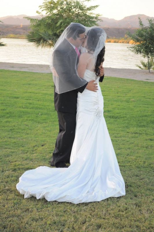 My wedding dress :) :  wedding dress ivory white Kissing Under Veil