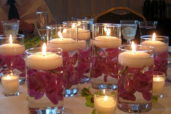 Wedding Picture Purple Reception Flowers 236