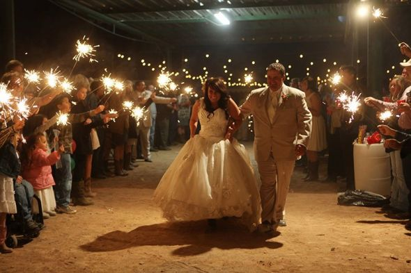 ADIOS :  wedding exit reception sparklers Exit