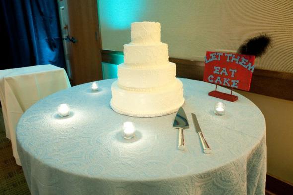 Wedding Cake Photos wedding feathers teal red white cake reception Cake 1