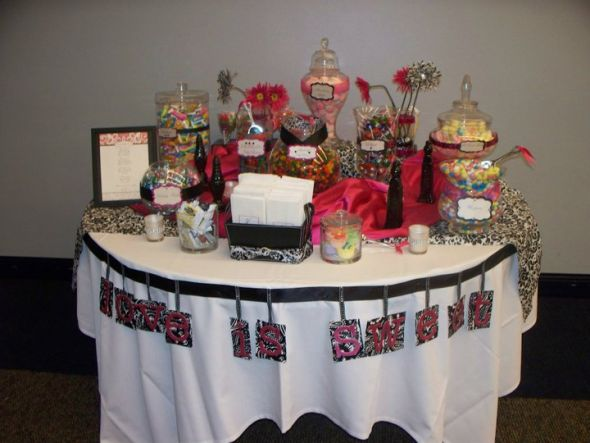 I hope you enjoy it Love is Sweet wedding pink black damask candy