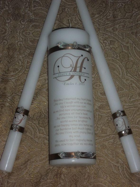 DIY Unity Candle wedding unity candle brown ceremony diy P 106