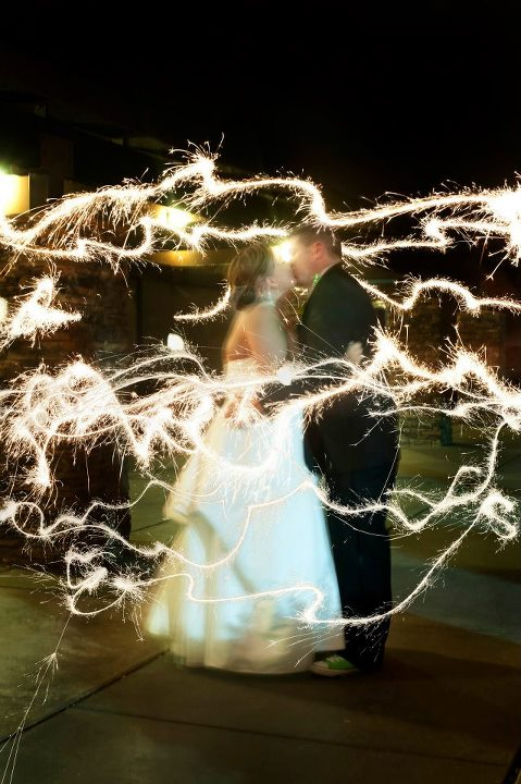 My Favorite Pic from our wedding! :  wedding Fireworks