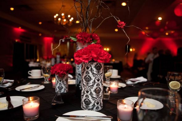 Table Decorations Black And White Theme Red Wedding Table Decorations Reference Wedding Decoration