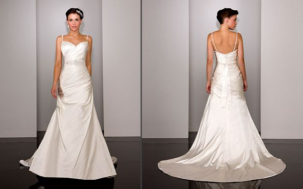 Martina Liana 245 Dupioni Silk Wedding Gown (Never Worn!) $950 :  wedding martina liana martina liana siobhan martina liana 245 silk gown dupioni silk gown silk wedding white ivory dress 245 Large1